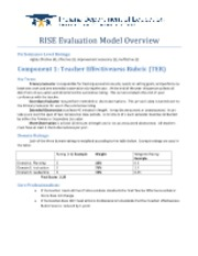 RISE Overview Quick Reference