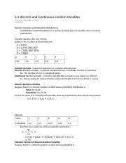 6.1 discrete and Continuous random Variables.docx