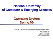 Lec31-Classical Synchronization Problems II