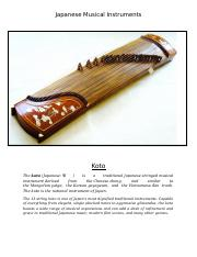 JAPANES MUSICAL INSTRUMENTS
