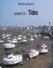 Lect 13 incomplete - Tides