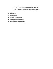 Psychological Disorders - Mod 48 49 50