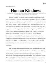 Kindness essay in english