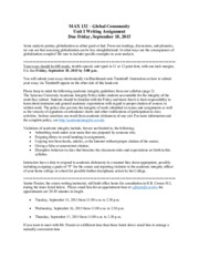 MAX 132-Unit I writing assignment-fall2015