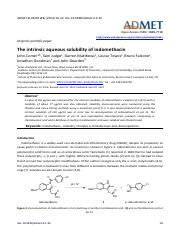 The intrinsic aqueous solubility of indomethacin
