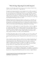 Privilege essay