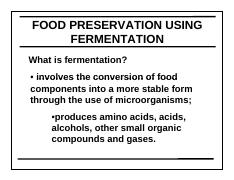 lecture 3food fermentations