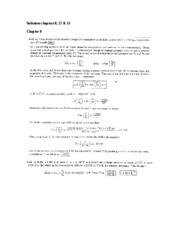 Solutions chapters 8,12 and 13 (odd)