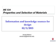 ME 534- Information and knowledge sources for design  02-03-2015