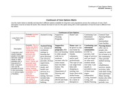 HCS 437 Week 2 Individual Assignment Continuum of Care Options Matrix