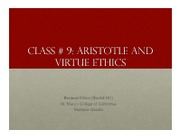 Business Ethics Class 9 - Aristotle and Virtue