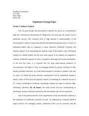 Negotiation Strategy Paper