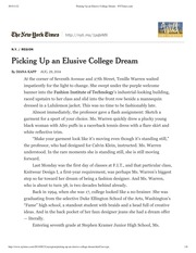 Picking Up an Elusive College Dream - NYTimes