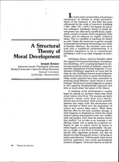 Article - A structural theory of moral development