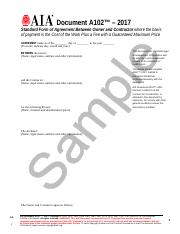 AIA Standard Form of Contract Between Owner and Contractor