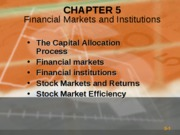 Chapter 2-Financial Markets