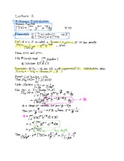 8th Lecture Note on Gamma Distributions