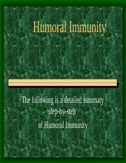 Specific Immune System Humoral Immunity notes.ppt