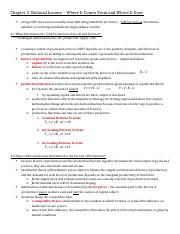 ECON 2000 - Chapter 3 Notes