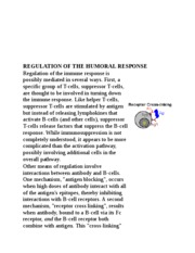 REGULATION OF THE HUMORAL RESPONSE