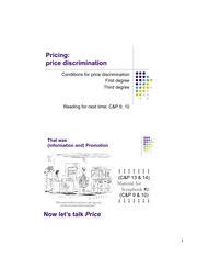 1st Degree Price Discrimination Notes