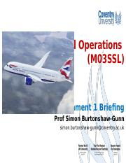 Global operations Assignment 1 briefing