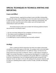 SPECIAL TECHNIQUES IN TECHNICAL WRITING AND REPORTING.docx