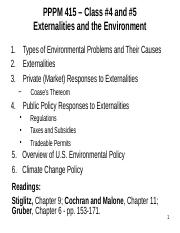 PPPM 415-Class #4 and #5-Externalities and Enviro Policy.pptx
