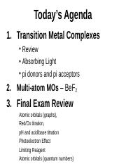 Lecture15(Dec5&6)TMComplexes&FinalReview