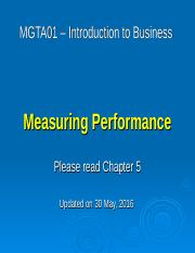 05 - Measuring Performance - May 30 2016.ppt