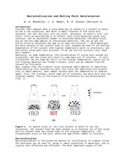 Recrystallization notes