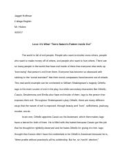 College English Research Paper (Othello)