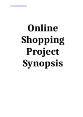 Online-Shopping-Project-Synopsis