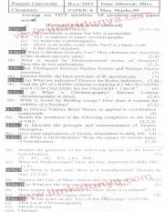 Past Papers 2015 Punjab University BSc Chemistry Paper B