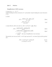 MATH 180 Fall 2014 Quiz 2 and 3 Solutions