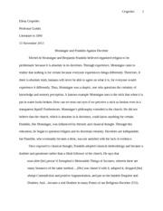 summary of montaignes essays