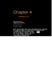 FCF 9th edition Chapter 04