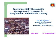 2011_THESIS Environmentally Sustainable Trnasport Systems in Bangladesh.pdf