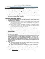 American Government Chapter 11 & 12 Notes