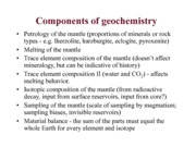 ERTH 2380 Components of Geochemisrty