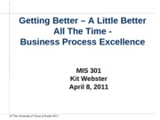 Class 32 - Kit Webster and Business Process