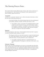 The Nursing Process Notes