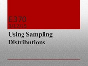 e370 sample distributions
