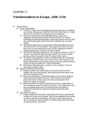 Chapter 17 Transformations in Europe