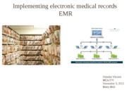 HCA 270 Implementing electronic medical records