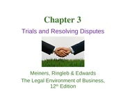 Chapter 3 Resolving Disputes Lecture SLides