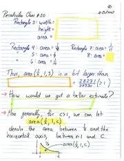 MATH 1110 Fall 2013 Area Under a Curve Lecture Notes