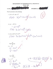 calc MATH 1823 Quiz 4 Solutions