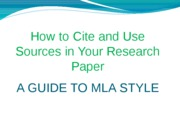 How to Cite and Use Sources in Your