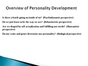 PSY101 Unit 10  Personality-Disorders and Therapy